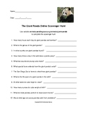 The Giant Panda Online Scavenger Hunt with Answer Key