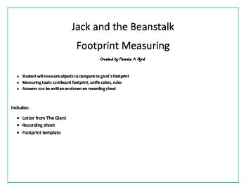 The Giant's Footprint Measuring Pack