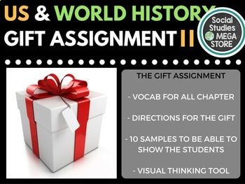Sketch Notes Activity World History and US History with Vo
