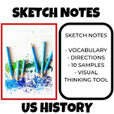 Sketch Notes Activity US History with Vocabulary