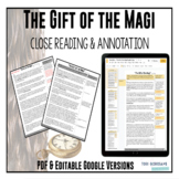 The Gift of the Magi - Close Reading & Annotation [Google Resource]