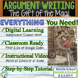 The Gift of the Magi by O. Henry - Text Dependent Analysis Argumentative Writing