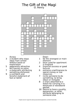 Gift of the magi ohenry guided reading worksheet crossword the gift of the magi ohenry guided reading worksheet crossword wordsearch negle Images