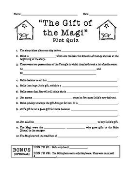 """The Gift of the Magi"" Plot Quiz"