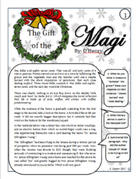The Gift of the Magi SUB PLANS