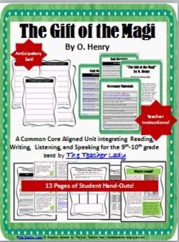 The Gift of the Magi Unit - Common Core Aligned
