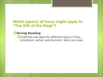 The Gift of the Magi and Irony Skits