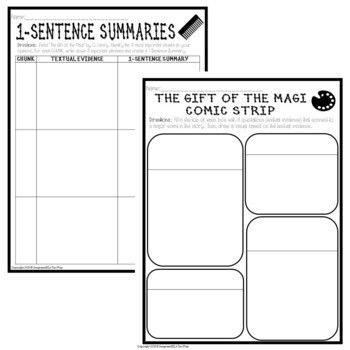 The Gift of the Magi by O. Henry: Common Core Reading Test Prep Lesson Pack