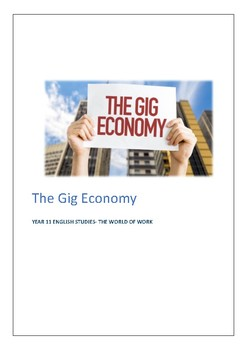 The Gig Economy - The world of Work comprehension