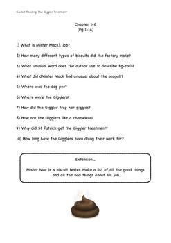 The Giggler Treatment Comprehension Pack