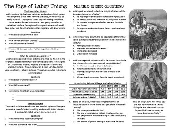 The Gilded Age: Labor Unions