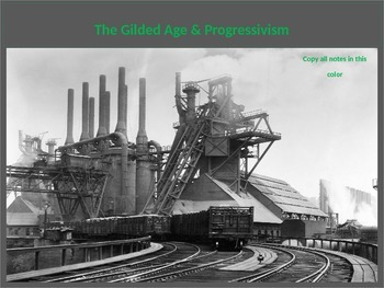 The Complete Gilded Age & Progressive Movement Unit Powerpoint
