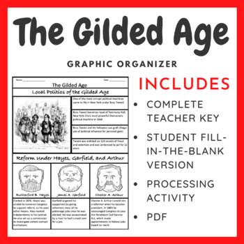 The Gilded Age: Graphic Organizer