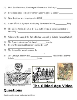 The Gilded Age Video Questions
