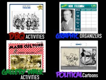 Gilded Age and Progressive Era Digital Unit Activity Bundle (ACTIVITIES ONLY)