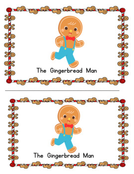 The Gingbread Man (color and black and white copies)