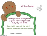 """Writing about """"The Gingerbread Baby"""" by Jan Brett (Prompt)"""