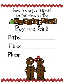 Gingerbread Boy & Girl Reader's Theater & More