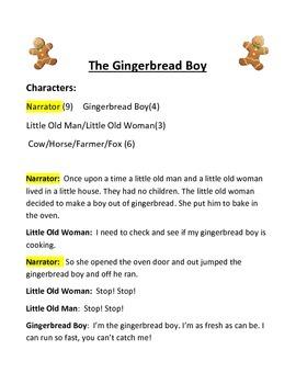 Gingerbread Boy - Reader's Theater scripts