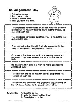 The Gingerbread Boy (Sequencing)