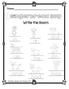 The Gingerbread Boy-Write the Room