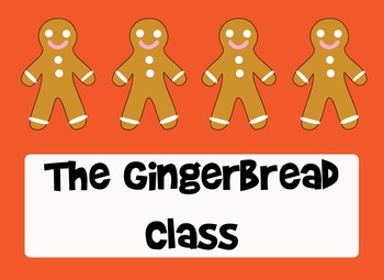 The Gingerbread Class - Clip Art or Getting to Know You Fun
