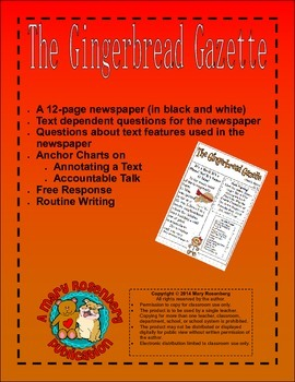 The Gingerbread Gazette Newspaper Activities