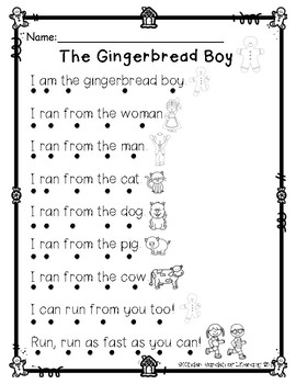 Reading with Dots-The Gingerbread Girl & Boy(2)