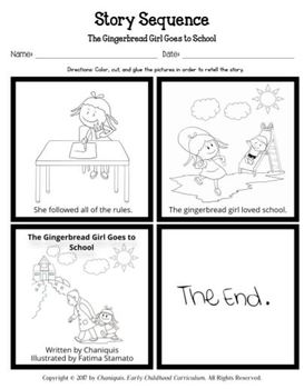 The Gingerbread Girl Goes to School (Kindergarten Topic Unit 1)
