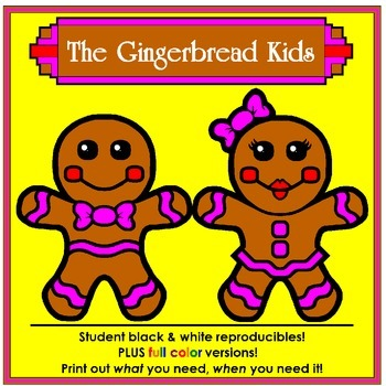 The Gingerbread Kids: (Gingerbread Boy and Girl plus Ginge