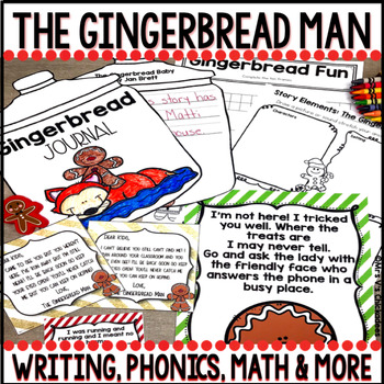 The Gingerbread Man: Writing, Phonics, Math, Crafts and More!