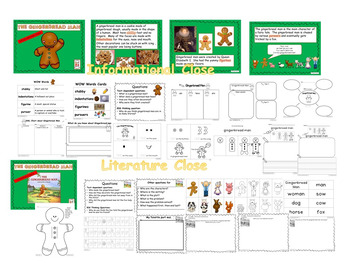 The Gingerbread Man with Closes, Shared Reading, Literacy, Math and SACC