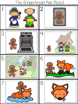 The Gingerbread Man - A Fairy Tale Comprehension Unit - Jabber the Reteller