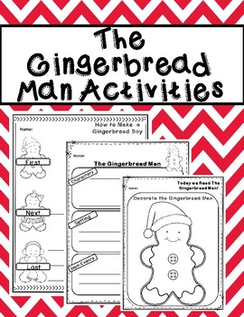 The Gingerbread Man Activities