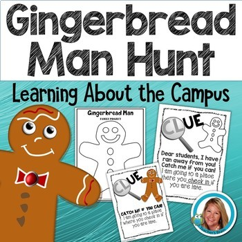 The Gingerbread Man Activities Campus Hunt with Clues