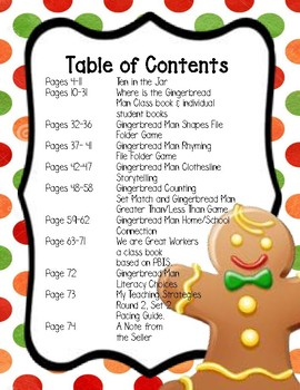The Gingerbread Man Activity Set, Round 2, Set 2