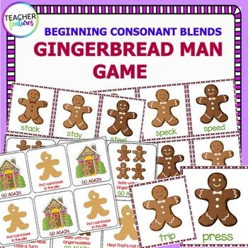 Gingerbread Man Literacy: Beginning Blends Game