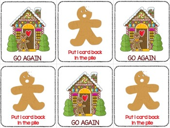 Gingerbread Man Activities BEGINNING BLENDS GAME