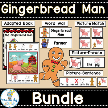 The Gingerbread Man-BUNDLE (PreK-2/SPED/ELL)
