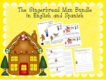 The Gingerbread Man Bundle in English and Spanish
