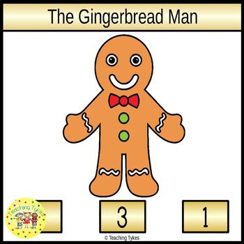 The Gingerbread Man Fairy Tales Count and Clip Task Cards