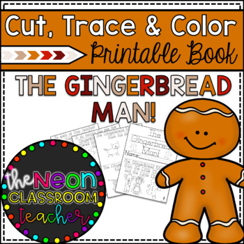 graphic about Gingerbread Man Printable Book named \