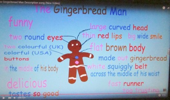 The Gingerbread Man Description Song