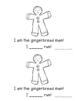 The Gingerbread Man - Differentiated Sight Word Book for the word - Can