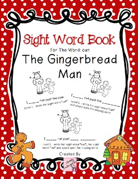 The Gingerbread Man - Differentiated Sight Word Book for t