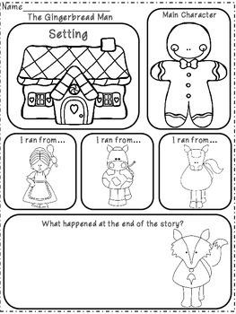 The Gingerbread Man Emergent Reader & Activities / Kindergarten