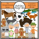 The Gingerbread Man Clipart {A Hughes Design}