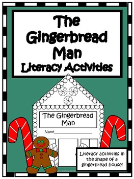 The Gingerbread Man- K/1st Gingerbread House Literacy Activity Book