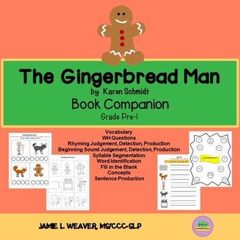 The Gingerbread Man Language Literacy Activity