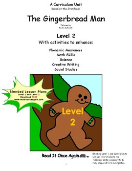 The Gingerbread Man Level 2 Digital Version
